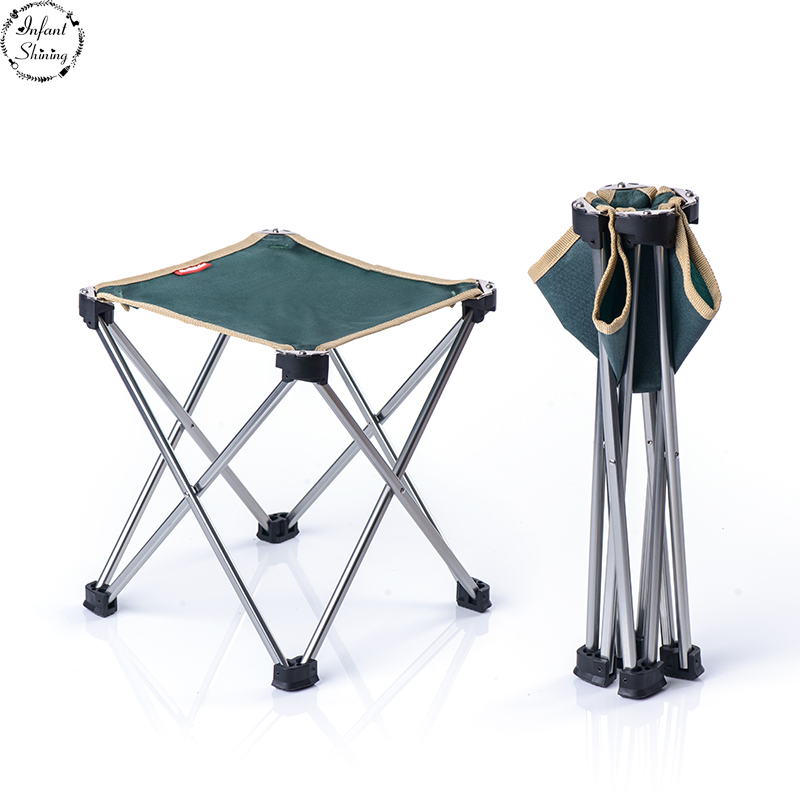 Outdoor Ultra-light Portable Folding Chair Camping Beach Chair Fishing Chair Stool Leisure Writing Chair Stool d