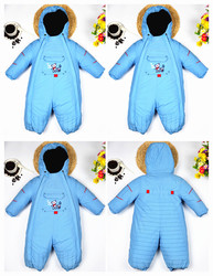 Windproof and waterproof outdoor clothing designer children conjoined ski cotton-padded clothes plus wool and cotton thickening