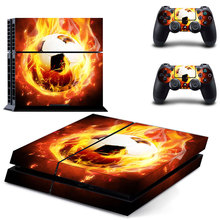Football Design PS4 Skin Decal Sticker For PlayStation4 Console and 2 controller skins