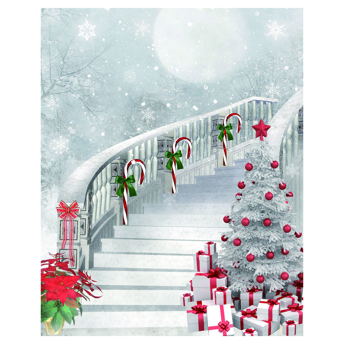 Thin Vinyl Studio Christmas Backdrop Photography Photo Background 5x7ft christmas background pictures vinyl tree wreath gift window child photocall fairy tale wonderland camera photo studio backdrop