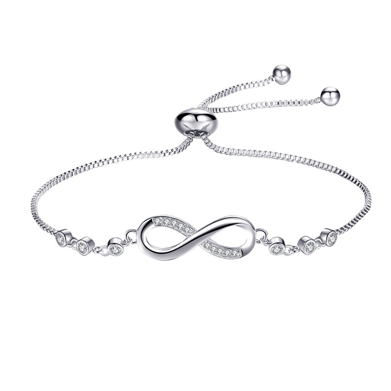 Nice Trendy Silver Color New 8 Shape Geometric Adjustable Charm Bracelets & Bangles For Women Fashion Jewelry gift