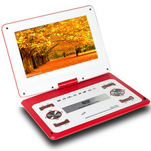 HD big screen 14 inch video DVD player Portable dvd Support Card U disk Game move