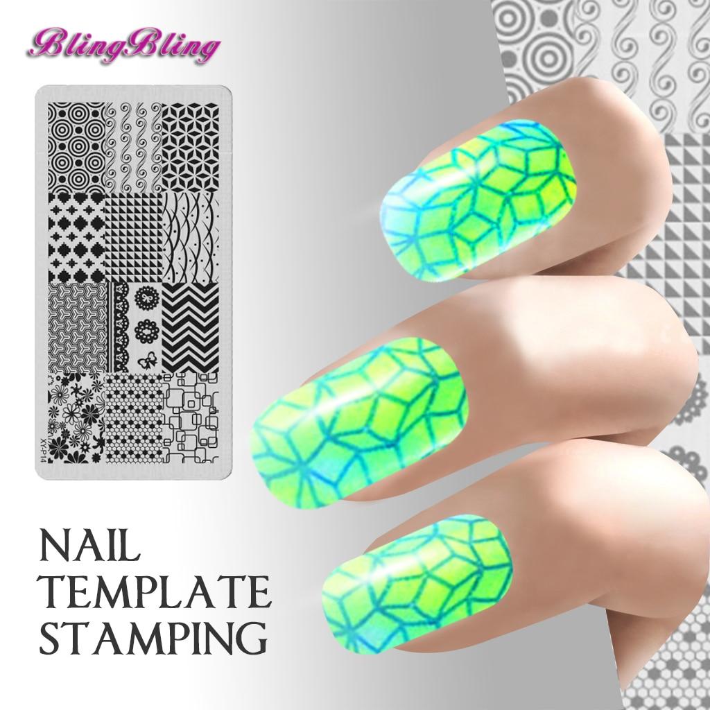 New 7pcs Manicure Stamping Nail Art Plates Strip Wavy Pattern Nail ...