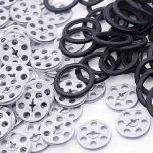 Ziegel Technic Teile Groß Pulley Stick Guide Reifen Keil Gürtel Räder Winden MOC Zubehör technik Bausteine Spielzeug