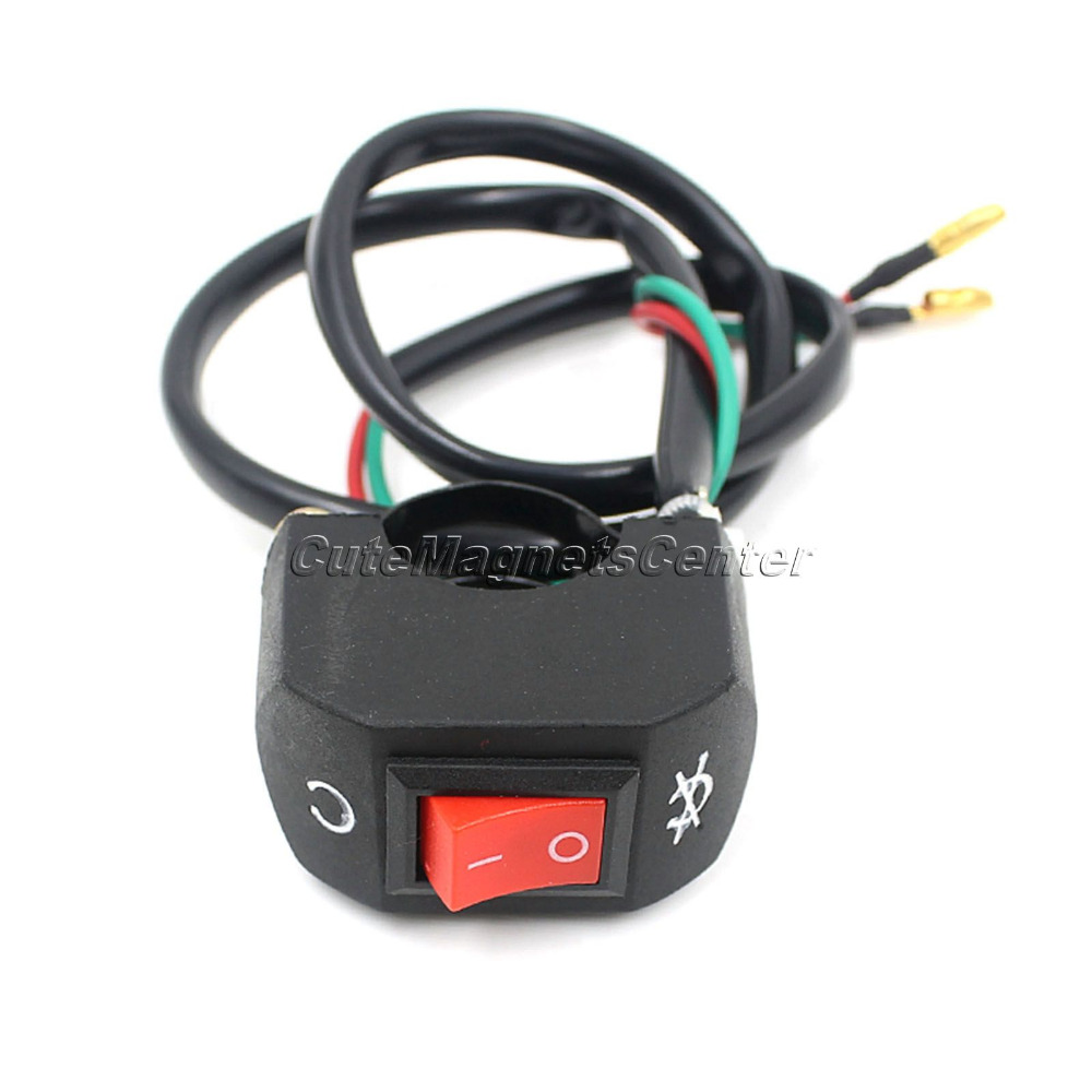 7/8 Inch Universal Motorcycle Switches 12V Electrical System Bullet ...