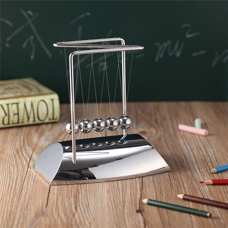 Новый Ньютонов колыбель бесконечных развлечений Сталь Баланс шары Физика маятник/Наука игрушка модели развивающие игрушки стол