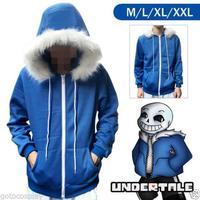 Game Undertale My Skeleton Sans Cosplay Zipper Hoodie Sweatshirt Hooded Coat