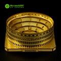 Microworld 3D Puzzle De Metal Roma Coliseu J002-G Arquitectónicos Modelo de Construção DIY 3D Montar Brinquedos Para Auditoria de Corte A Laser