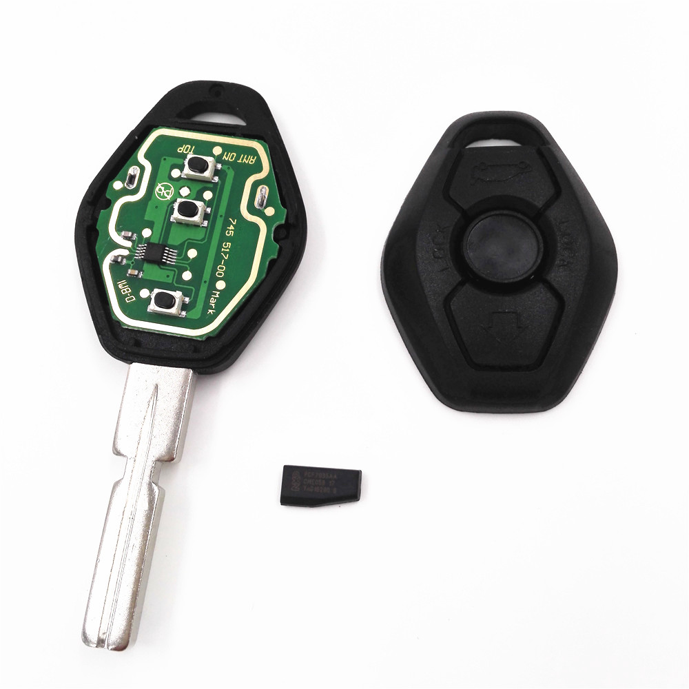 3 Button 433MHZ/315MHZ Remote Key For BMW X3 X5 E38 E39