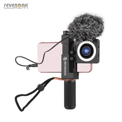 Sevenoak Smartphone Microphone Handle Stabilizer Grip Mic Video Rig Kit Tripod Mount LED Ring Light Video Vlog for iPhone Huawei