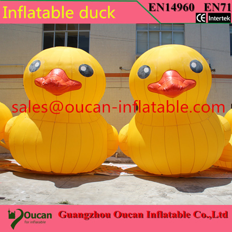OCYLE3m/4m/6m height Oxford cloth inflatable yellow duck for advertising, giant inflatable promotional yellow duck on hot sale