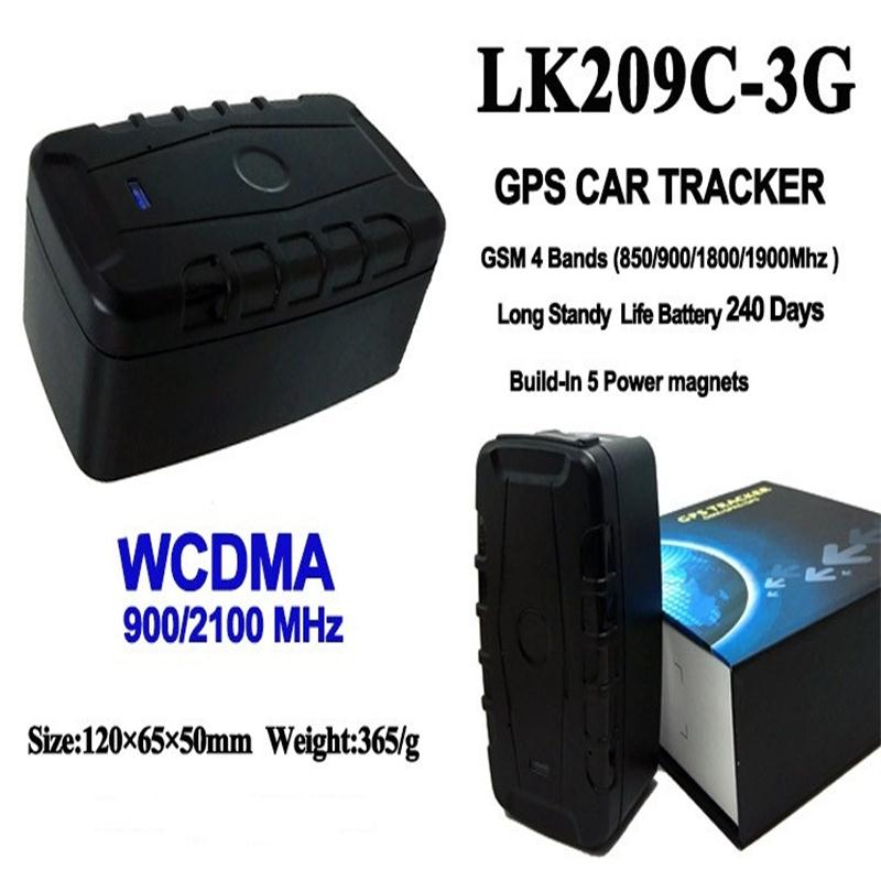 3G Car Vehicle GPS Locator WCDMA LK209C Standby 240Days Waterproof Magnet Drop Alarm 20000mAh Battery GPS Rastreador APP Track portable 3g car gps tracker 20000mah powerful magnet gps locator 240 days standby time tracker tracking system for car rental