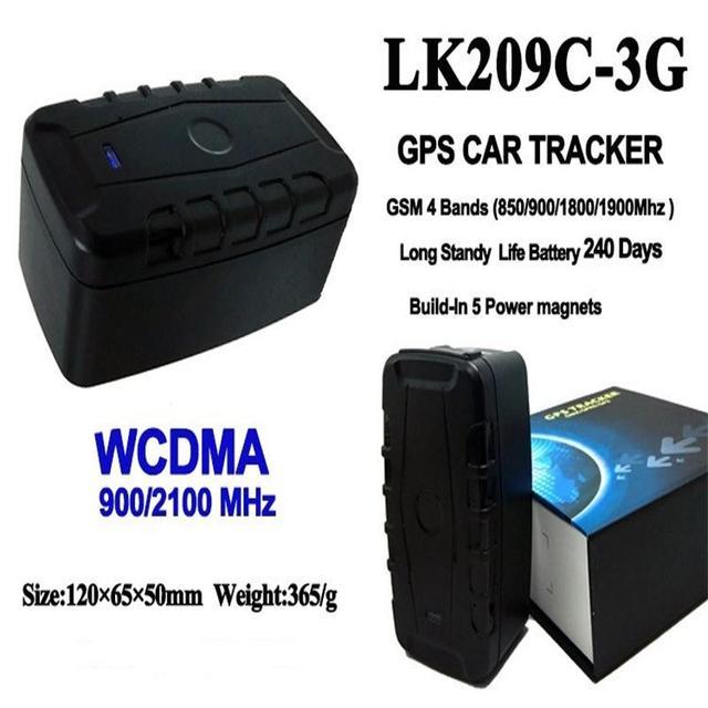 1882d49984f 3g Carro Veículo Localizador GPS WCDMA LK209C 240 Dias de Espera Ímã À Prova  D
