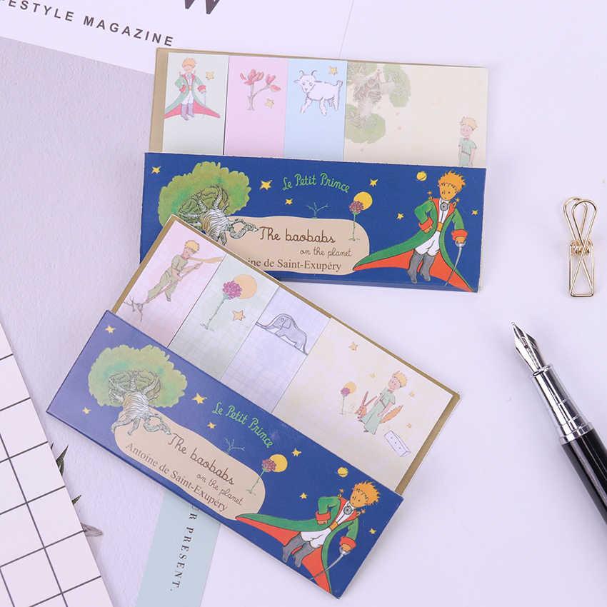 1PC bande dessinée petit Prince bloc-Notes papier autocollants planificateur autocollant pâte Kawaii papeterie bureau fournitures scolaires