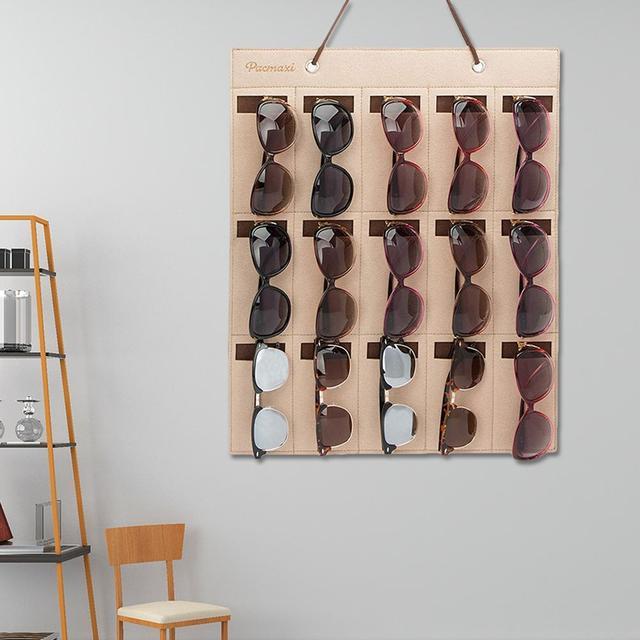 المحمولة الشمسية حقيبة التخزين لينة القماش حقيبة للحمل المرأة الرجال النظارات الشمسية منظم الجدار الديكور