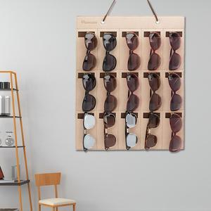 Image 1 - Portable Sunglasses Storage Bag Soft Cloth Hanging Bag Womens Mens Sunglasses Organizer Wall Decoration