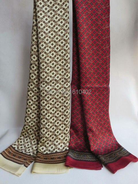 Последняя мода / элегантный / мода / мужчин 100% чистого шелка двусторонняя печать длинный шарф / бордовый зеленый светло-коричневый