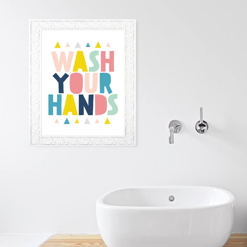 Bathroom wall art print