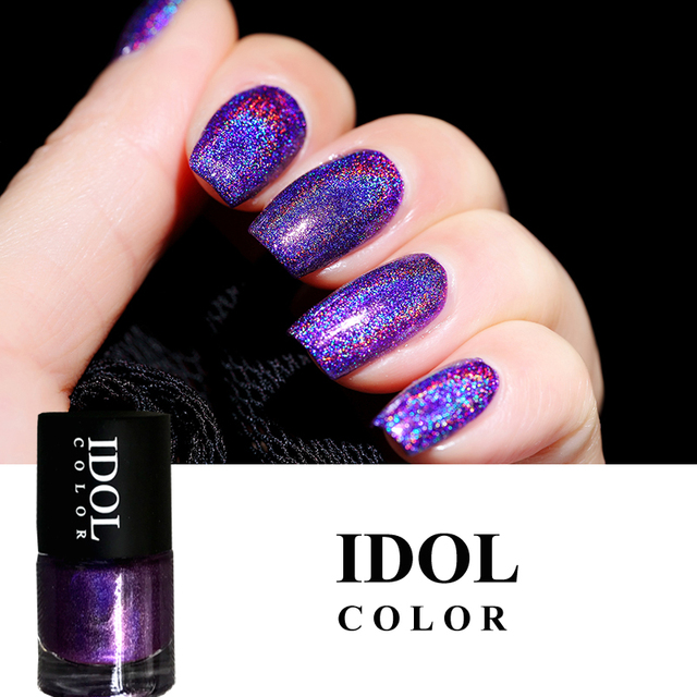 IDOL COLOR Laser #305 High Ingredients Holographic Nail Polish 10ml ...