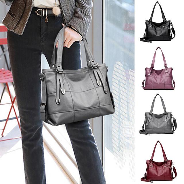 Large Tote PU Leather Shoulder Bag