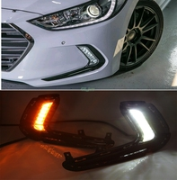 Turn Signal And Dimming Style Relay 12V LED Car DRL Daytime Running Lights For Hyundai Avante