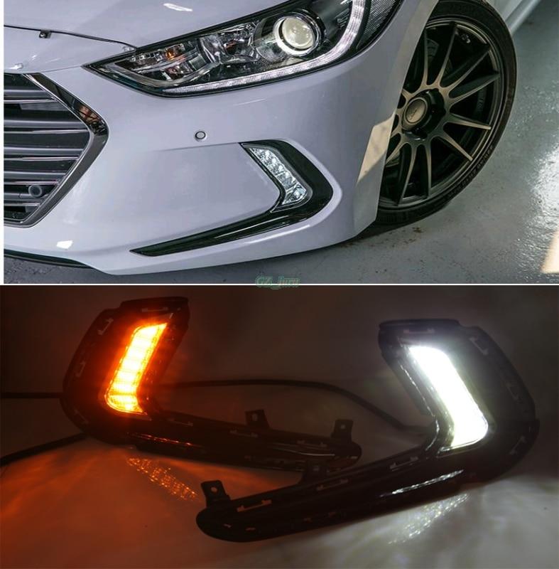 Clignotants et gradation style Relais 12 V LED Voiture DRL feux de jour Pour Hyundai Avante AD Elantra 2016 2017