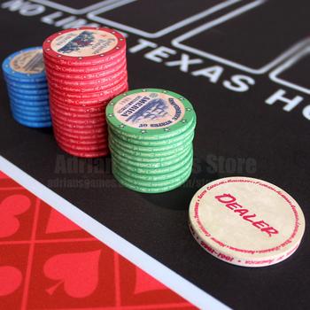 Retro amerykański historia ceramiczne żetony do pokera 39*3mm 10g profesjonalny zestaw żetonów do pokera dwustronnie tanie i dobre opinie jialong GG216-S American History Smooth Wipe with wet cloth and keep dry Buy 100pcs or more for Poker game