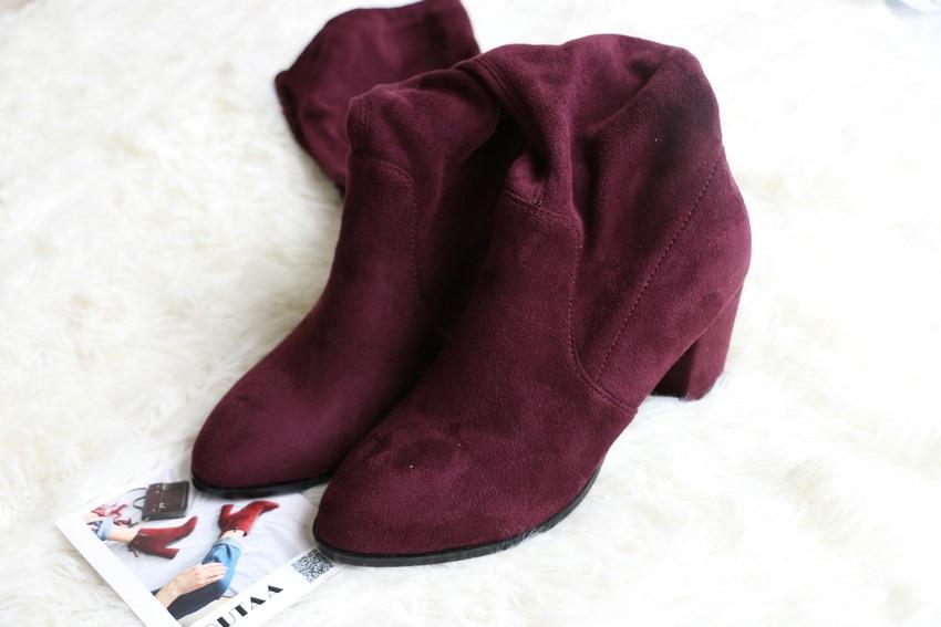 Women Over The Knee High Heel Winter Sexy Boots 36