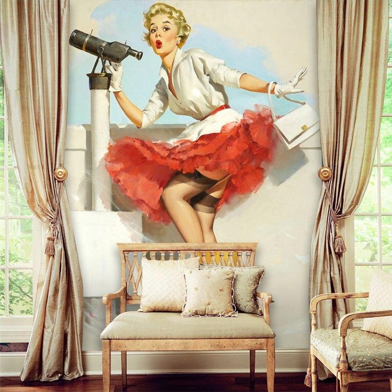 Tuya Art customize vintage 3D any size Marilyn Monroe oversized wall mural for living room sofa back wallmural wallpaper decor