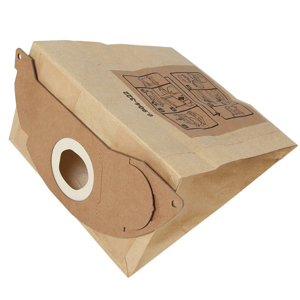 цена на 10pcs Vacuum Dust Filter Paper Bag for KARCHER WD2250 A2004 A2054 MV2 Efficient Dust Collection Bags
