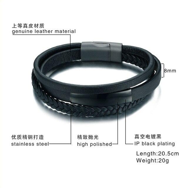 Модный мужской браслет 2020 черные ювелирные изделия из искусственной