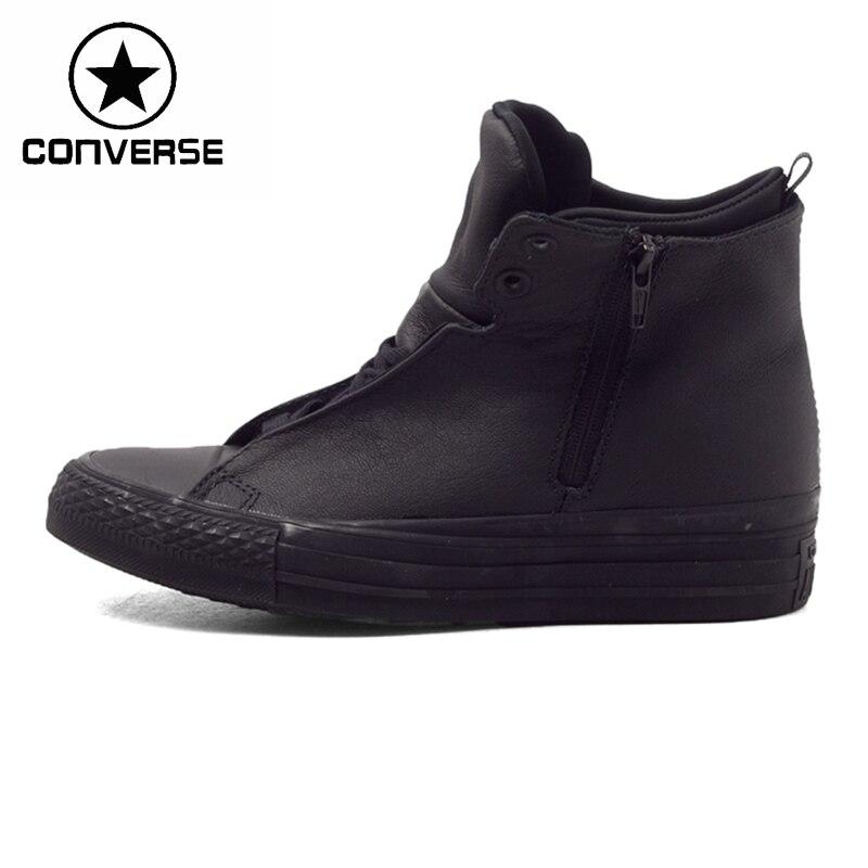 Prix pour Original Nouvelle Arrivée Converse selene monochrome en cuir Femmes de Planche À Roulettes Chaussures Sneakers