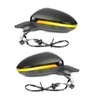 Genuine Car Mirror For Golf 7 mk7 Auto folding mirror electric folding side mirrors with light 5GG 857 507 A & 5GG 857 508 A
