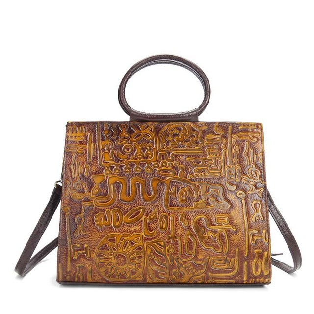 Aetoo Brand New Handmade Leather Handbags Embossed Retro Clean Color To Do The Old First Layer
