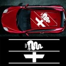 Автомобильный, 1 шт для Alfa Romeo Логотип Наклейка на крышу стикер