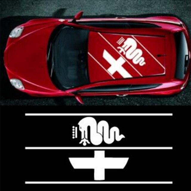 Automobile,1pcs for Alfa Romeo Logo roof sticker Sticker-in Car Stickers from Automobiles & Motorcycles    1