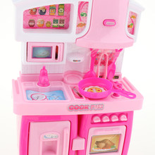 DIY Simulation Cabinet Kitchen Role Pretend Play Toy for Kids Children Girls(China)