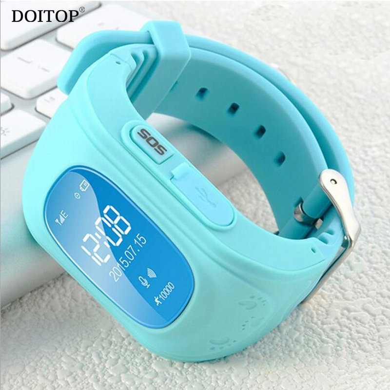 DOITOP OLED Children Kid GPS Anti-Lost Smart Watch Wristwatch LBS GPS Locator Position Tracker SOS Call Smartwatch Child Guard yuanhang smart universal gps lbs tracker locator sos call watch for elder parents heart rate monitor alarm anti lost wristwatch