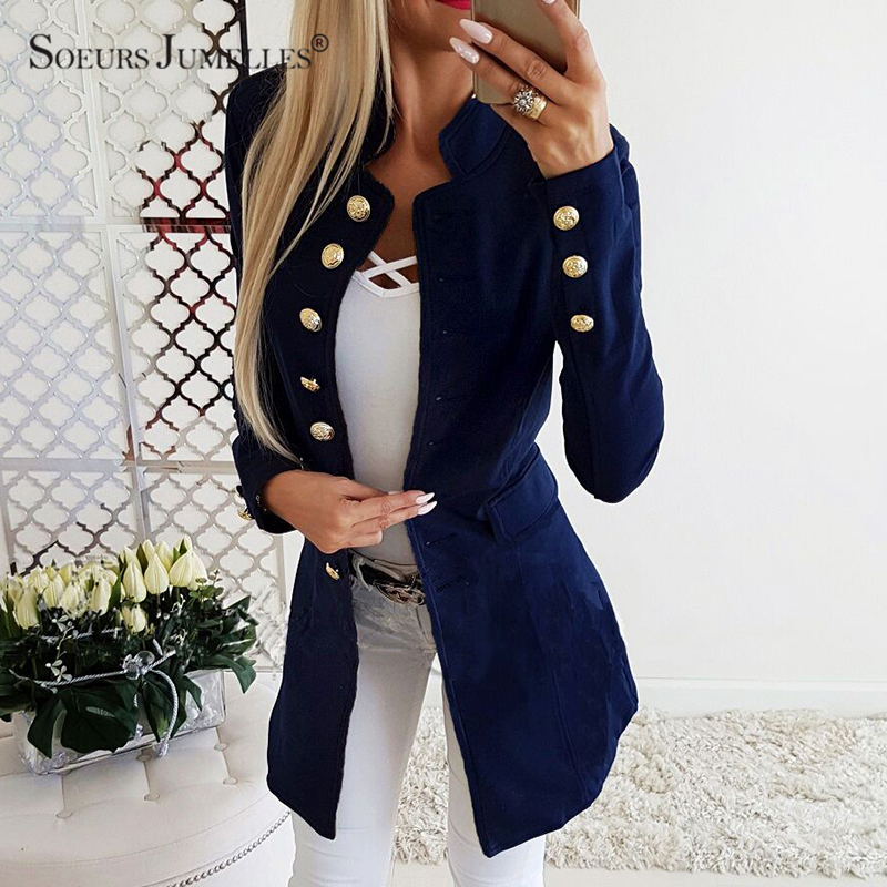 Vintage Single Breasted Office Ladies Blazer 2019 Long Sleeve Loose Suit Coat Jacket Women Blazers Female 5209