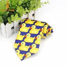 Фирменная Новинка Горячая Мода Фирменная Новинка Барни Как я встретил вашу маму Даки галстук желтый Rubber Duck галстук галстуки Barney душка