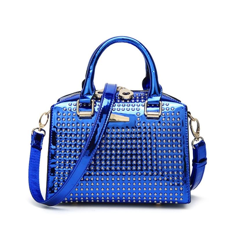 цена на bolsa feminina New patent leather hand bag Liu nail small package Australian beauty fashion women's shoulder diagonal package