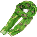 FS Hot Green Zebra Pattern Print Large Big Scarf Shawl Sarong Soft Celebrity Scarf Gift