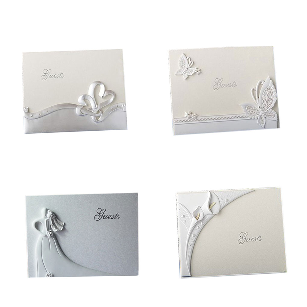 New Wedding Guest Book Linked Hearts Bride Bridegroom Cards & invitations Signing Book