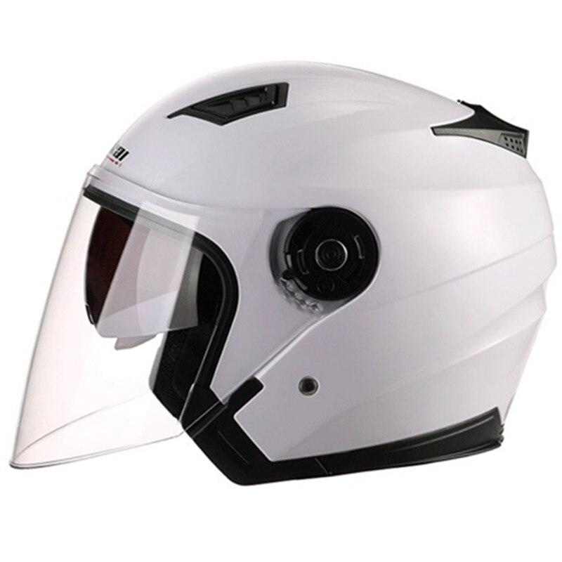 2017 Nuovo Arrivo JIEKAI doppia Lente Aperto del motociclo del Fronte casco 3/4 moto casco 9 colori disponibili unisex helemt