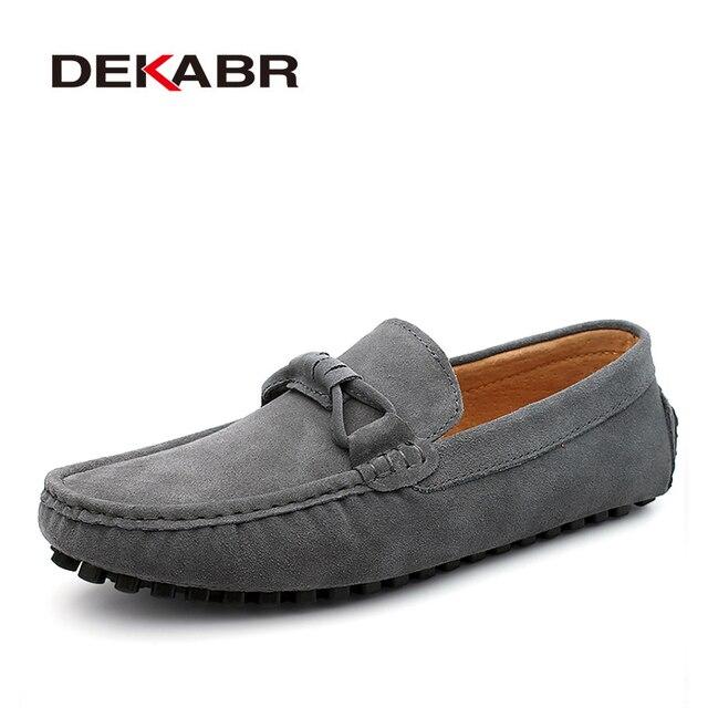 Dekabr novo 2021 homens vaca camurça mocassins primavera outono couro genuíno condução mocassins deslizamento em sapatos casuais masculinos tamanho grande 38 ~ 46