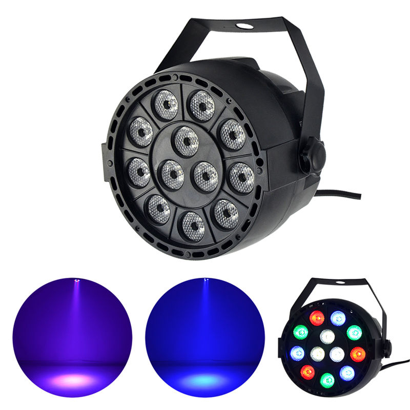 AUCD Mini 12 Pcs RGBW Red Green Blue White Leds LED Par Stage Lighting Disco DJ Club Effect Wedding Show DMX Strobe Light Lamp cute cartoon airplane style red light led keychain w sound effect blue white 3 x ag10