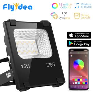 RGB LED Floodlight 15W Bluetoo