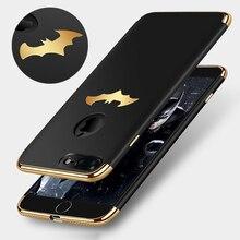 Luxury Batman Plating Case For iPhone 7 7 Plus / 8 / 8 Plus Coque Protective PC Hard Phone Case For iPhone 6 6S / 6 Plus Cover