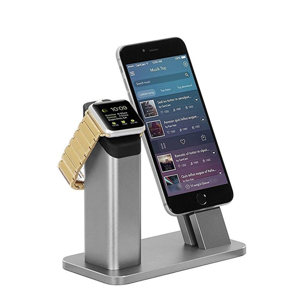 Vente support de Station en aluminium chargeur de charge support de Base de Dock pour iPhone 5 5S 6/6 s/6 Plus pour Apple Watch livraison gratuite