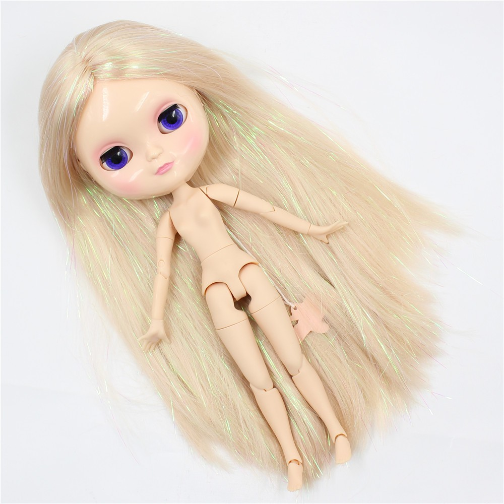 Neo Blythe Doll with Blonde Hair, White Skin, Shiny Face & Jointed Azone Body 5